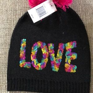 LOVE hat by Betsy Johnson